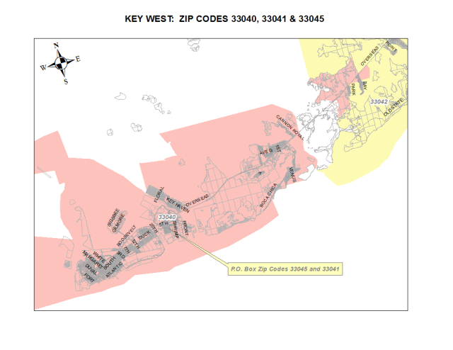 Key West_ZipCodeMap